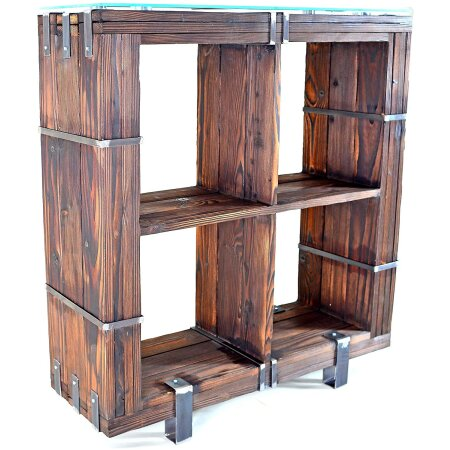 Kommode Schrank Sideboard BORYSLAW Massivholz TV Board...