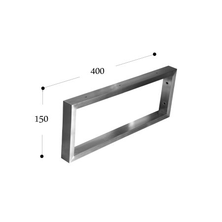 Wandkonsole 400 mm (150 - 40x20) - 1 Stück
