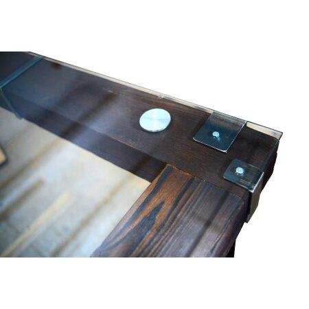 Esstisch Wohnzimmertisch LEMBERG Loft Vintage Bar IndustrieDesign Handmade 140x90 cm Holz Metall Glas