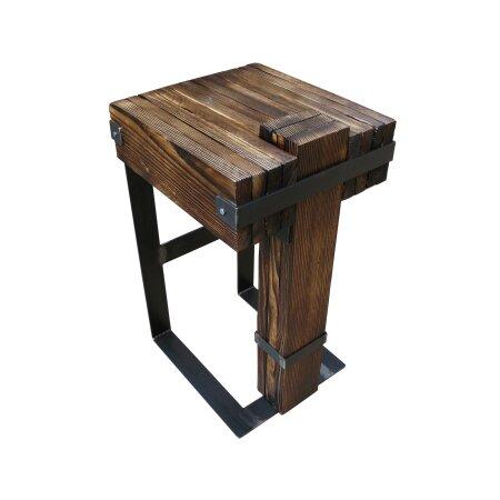 Barhocker Barstuhl BarMöbel DROHOBYCZ Loft Vintage Bar Industrie Design Handmade Holz Metall