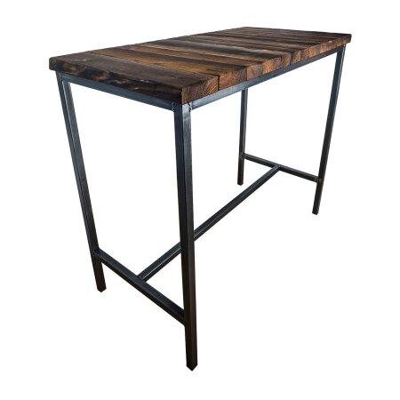 Bartisch Stehtisch BarMöbel SAMBOR Loft Vintage Bar Industrie Design Handmade Holz Metall (120 x 60 cm)