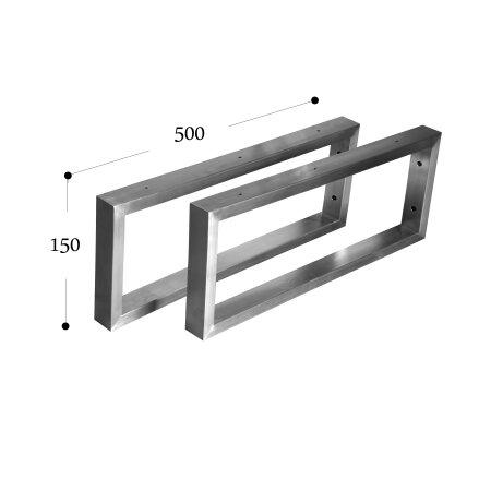 Wandkonsole 500 mm (150 - 40x20) - 1 Paar