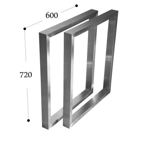 Tischgestell 600 mm 60x30 (h=720 mm)