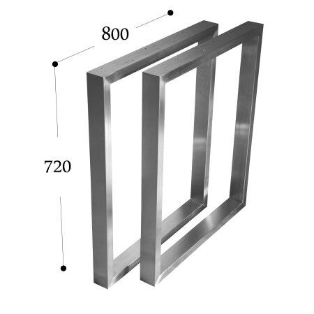 Tischgestell 800 mm 60x30 (h=720 mm)