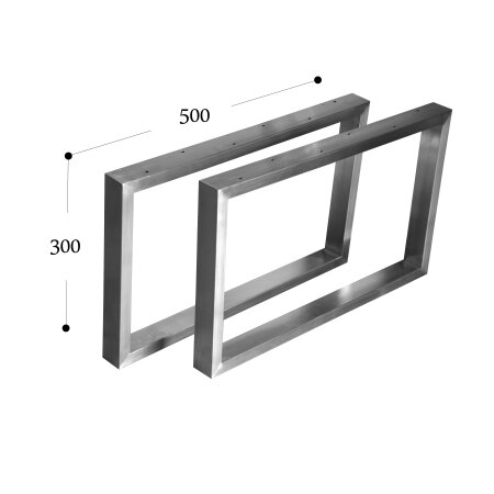Tischgestell 500 mm 60x30 (h=300 mm)