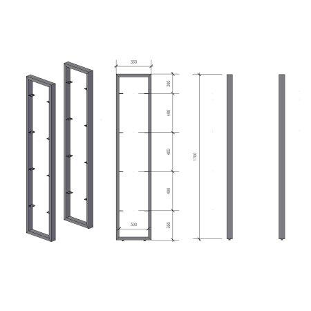 Regalhalter 1700 mm 2 (360 - 60x30)