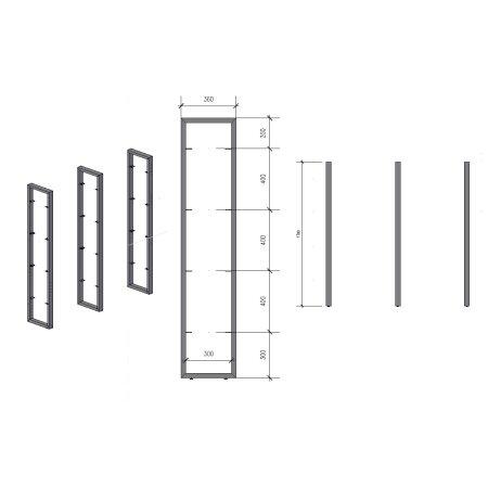 Regalhalter 1700 mm 3 (360 - 60x30)