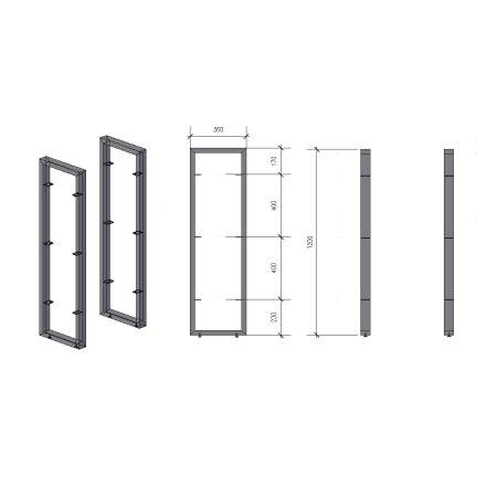 Regalhalter 1200 mm 2 (360 - 60x30)