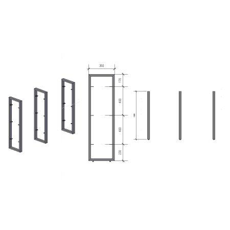 Regalhalter 1200 mm 3 (360 - 60x30)
