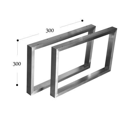 Tischgestell 300 mm 60x30 (h=300 mm)